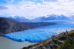 Grey glacier. Torres del Paine National park. Royalty Free Stock Photos