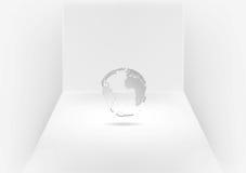 Grey globe in room Royalty Free Stock Image