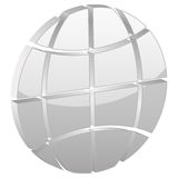Grey globe symbol Stock Photos