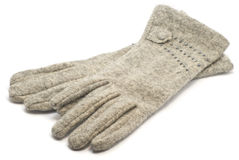 Grey gloves Stock Photography