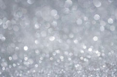 Grey Glow glitter background. Elegant abstract background with bokeh Stock Photo