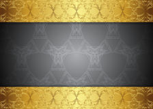 Grey and golden pattern vintage backgrounds. Grey and golden pattern vintage backgrounds for design Royalty Free Stock Image