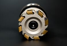 Grey and Golden Round Tool Royalty Free Stock Photography