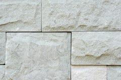Grey granite stone brick on the wall Stock Photo