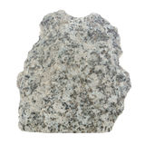 Grey Granite Stone Isolated on White Background Stock Photo