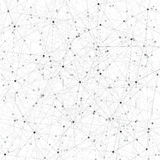 Grey graphic background molecule and communication. Connected lines with dots. Vector illustration.  stock illustration