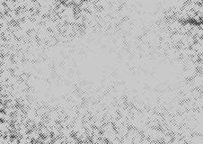 Grey graphic halftone comic style pop art template. Retro grain pattern effect fashionable page background layout. Vector illustration stock illustration