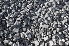Grey gravel. Stock Photo