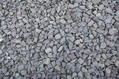Grey gravel. Used for rail tracks Royalty Free Stock Photography