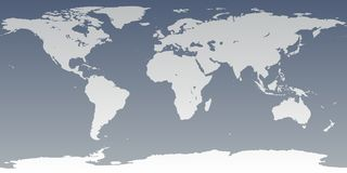 Grey Gray World High Detail. Accurate map of the world. Includes Antarctica. Maps to a 3d sphere to make a globe with accurate latitude and longitude. Also Stock Images