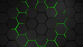 Grey and green hexagons modern background Royalty Free Stock Photography