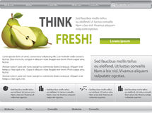 Grey-green website with pear Stock Photography