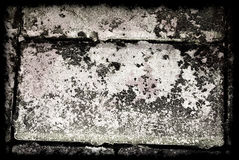 Grey Grunge Abstract Background avec la frontière Photographie stock libre de droits