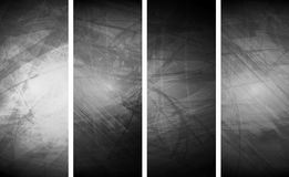 Grey grunge textural banners Stock Photos