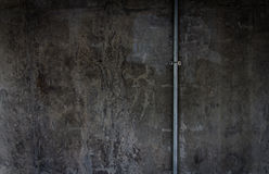 Grey grunge textured. And wiring duct wall Stock Image