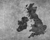 Grey grungy UK map Royalty Free Stock Photos