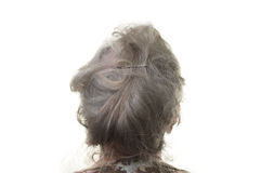 Grey hair Royalty Free Stock Photo