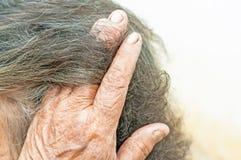 Grey hair. Elderly womans Royalty Free Stock Photos