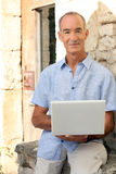 Grey haired man Stock Photography