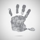 Grey hand Print icon on white background. Stock Image