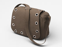 Grey handbag with studs Stock Photo