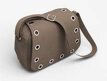 Grey handbag with studs Stock Image