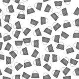 Grey Handbags Pattern delle donne senza cuciture royalty illustrazione gratis