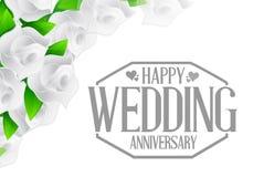 Grey Happy weeding anniversary stamp Stock Image