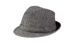 Grey Hat isolated on white Stock Photos