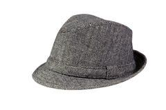 Grey Hat lokalisierte auf Weiß stockfotos