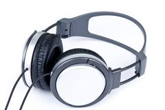 Grey headphone Royalty Free Stock Photos