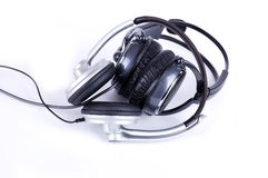 Grey headsets Stock Photo