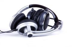 Grey headsets Royalty Free Stock Photos