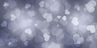 Grey Heart Background, Herz Bokeh-Hintergrund, lizenzfreie stockfotos
