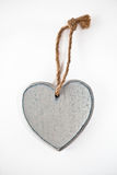 Grey heart with blank space Stock Photos