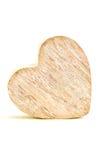 Grey Heart en bois sur le fond blanc d'isolement Images libres de droits