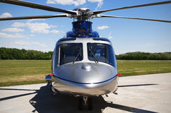 Grey  helicopter. Grey helicopter  front view Stock Image