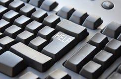 Grey HELP keyboard Stock Image