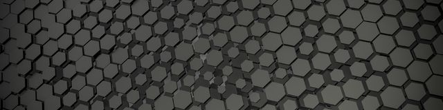 Grey hexagon background. 3d illustration of a grey hexagon background Royalty Free Stock Image