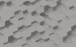 Grey Hexagon Background Texture 3d rendono Immagine Stock