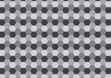 Grey hexagon honey comb pattern Royalty Free Stock Images