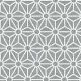 Grey Hexagon Star Pattern japonais illustration stock
