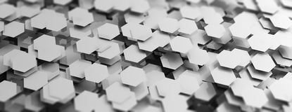 Grey hexagons abstract background. 3d illustration. Grey hexagons creative abstract background. 3d illustration Stock Images