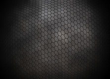 Grey hexagons grid background Royalty Free Stock Photo