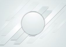 Grey hi-tech abstract background with circle. Vector illustration Stock Photo
