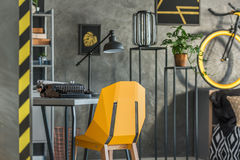 Grey home office with typewriter Stock Images