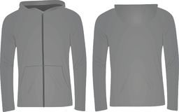 Grey hoodie jacket vector illustration