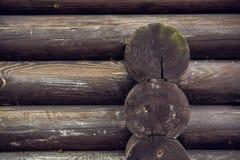 Grey horizontal wooden beam Royalty Free Stock Image