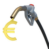 Grey hose tube with oil euro Stock Images