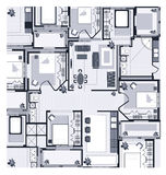 Grey House Plan Royalty Free Stock Photo